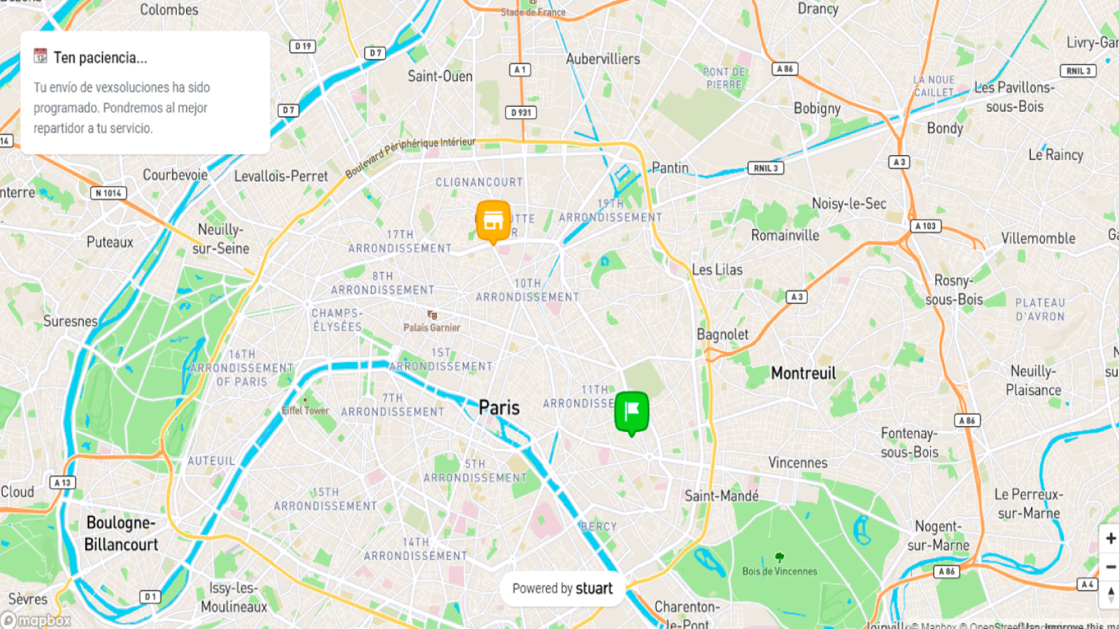 Map Tracking on Delivery Service