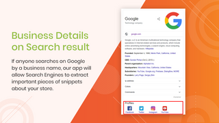 Business Details on Search result