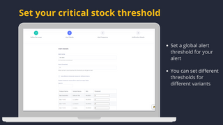 Shopify low inventory alert threshold