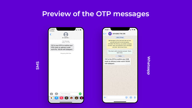 SMS/ Whatsapp Message Preview
