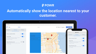 Automatically show the location closest to your customer.