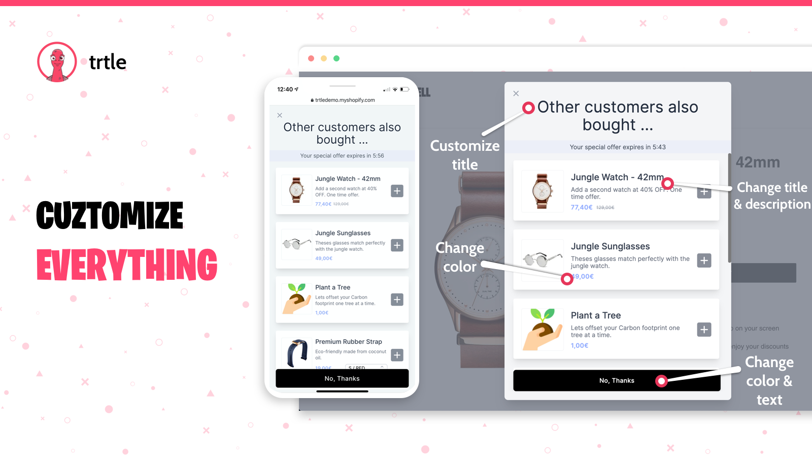 Fully Customizable - Choose Your Products and Upsells
