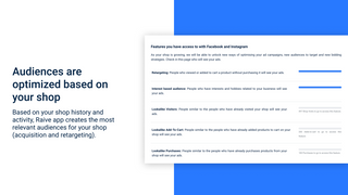 Audiences are optimized based on your shop