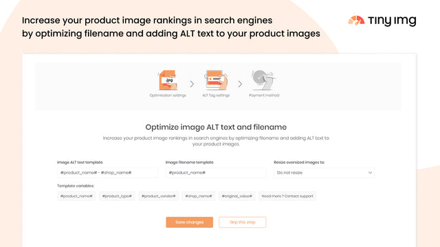 TinyIMG - Shopify SEO tool that helps to increase organic search