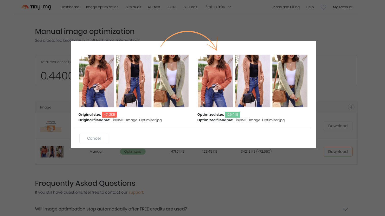 Improve your store loading time by compressing images up to 60%