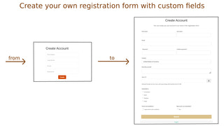 Create your own registration form with custom fields