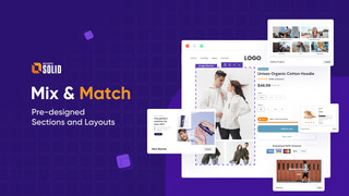 Mix and Match Pre-designed Sections and Layouts