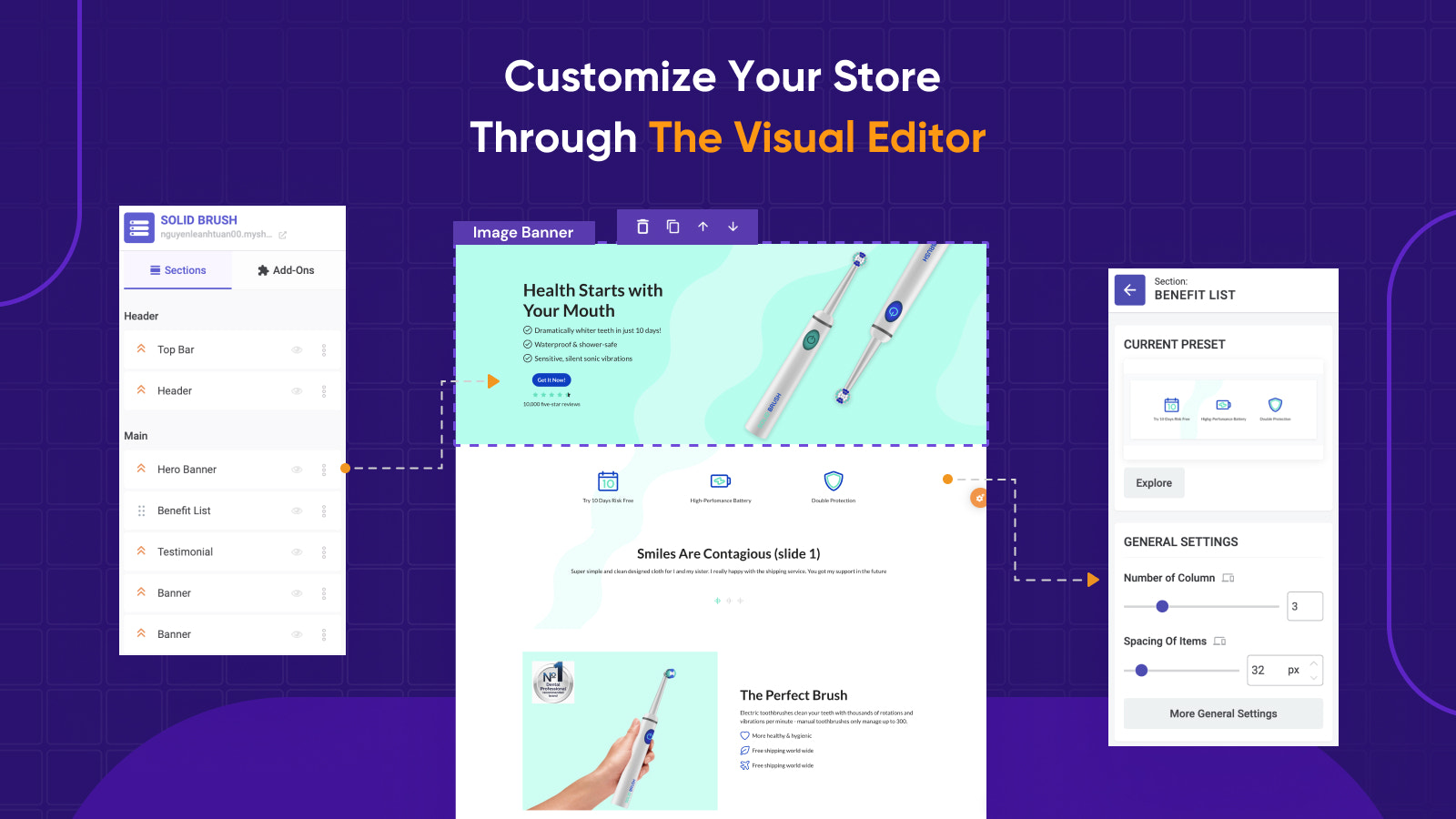 Customize Your Store Through The Visual Editor