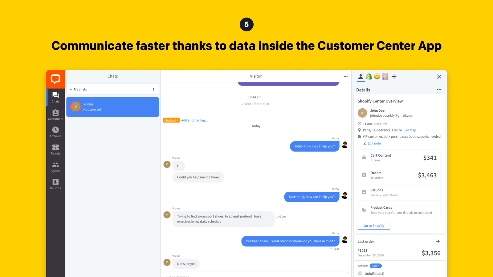 Communicate faster thanks to data inside the Customer Insight
