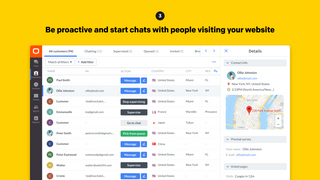 Be proactive and start chats with people visiting your website