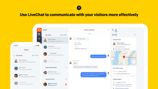 Use LiveChat to communicate with your visitors more effectively