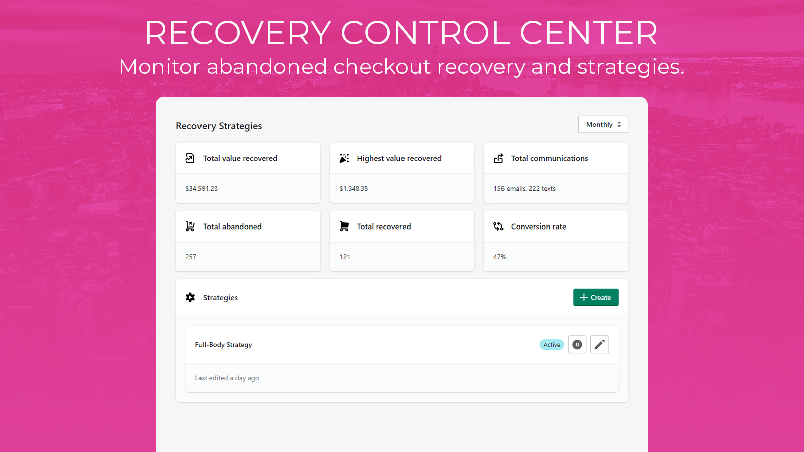 The recovery page.