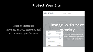 Protect Your Site Content by Disabling Menu Tools & Dev Console