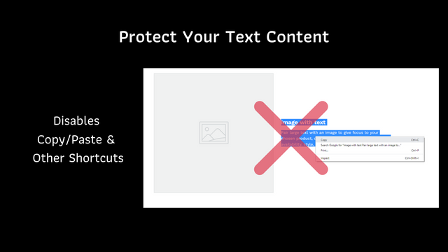 Protect Your Text Content by Disabling Copy/Paste & Shortcuts