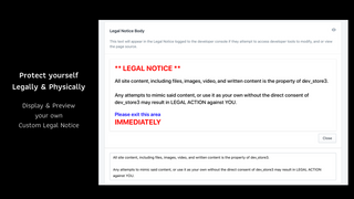 Write your own custom legal body & preview it with Vault