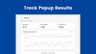 Track Popup Results
