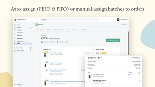 Auto-assign (FEFO & FIFO) or manual-assign batches to orders