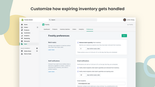 Customize how expiring inventory gets handled
