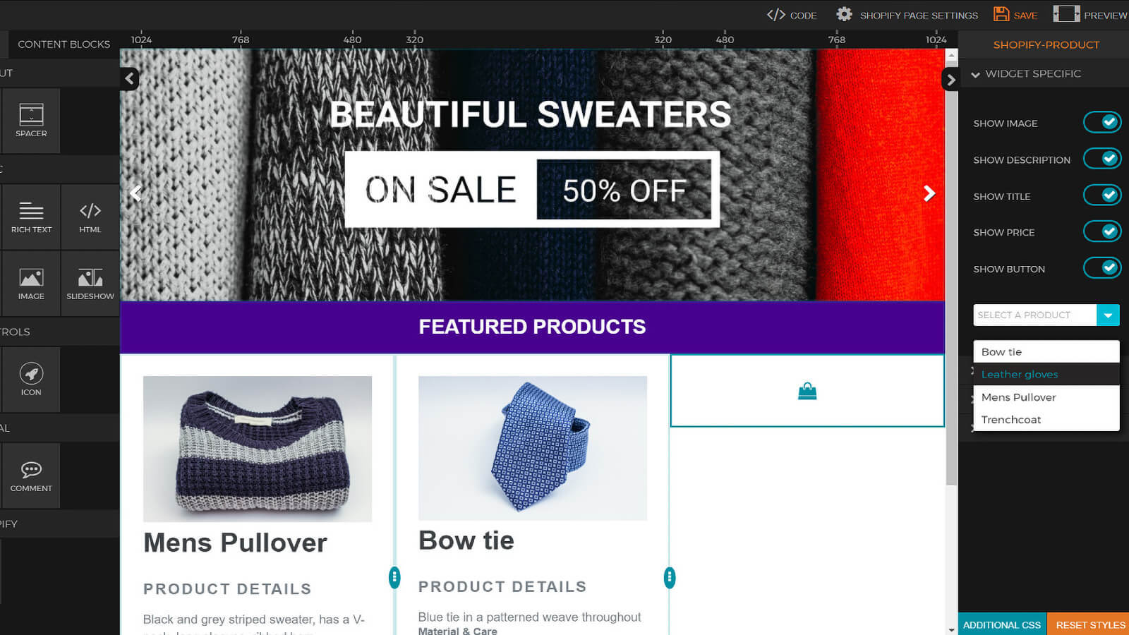 Easily product widget design easy page editor builder