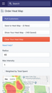 Shopify Order Heat Map Mobile