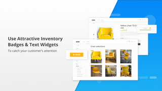 Attractive inventory widgets to catch your customers' attention
