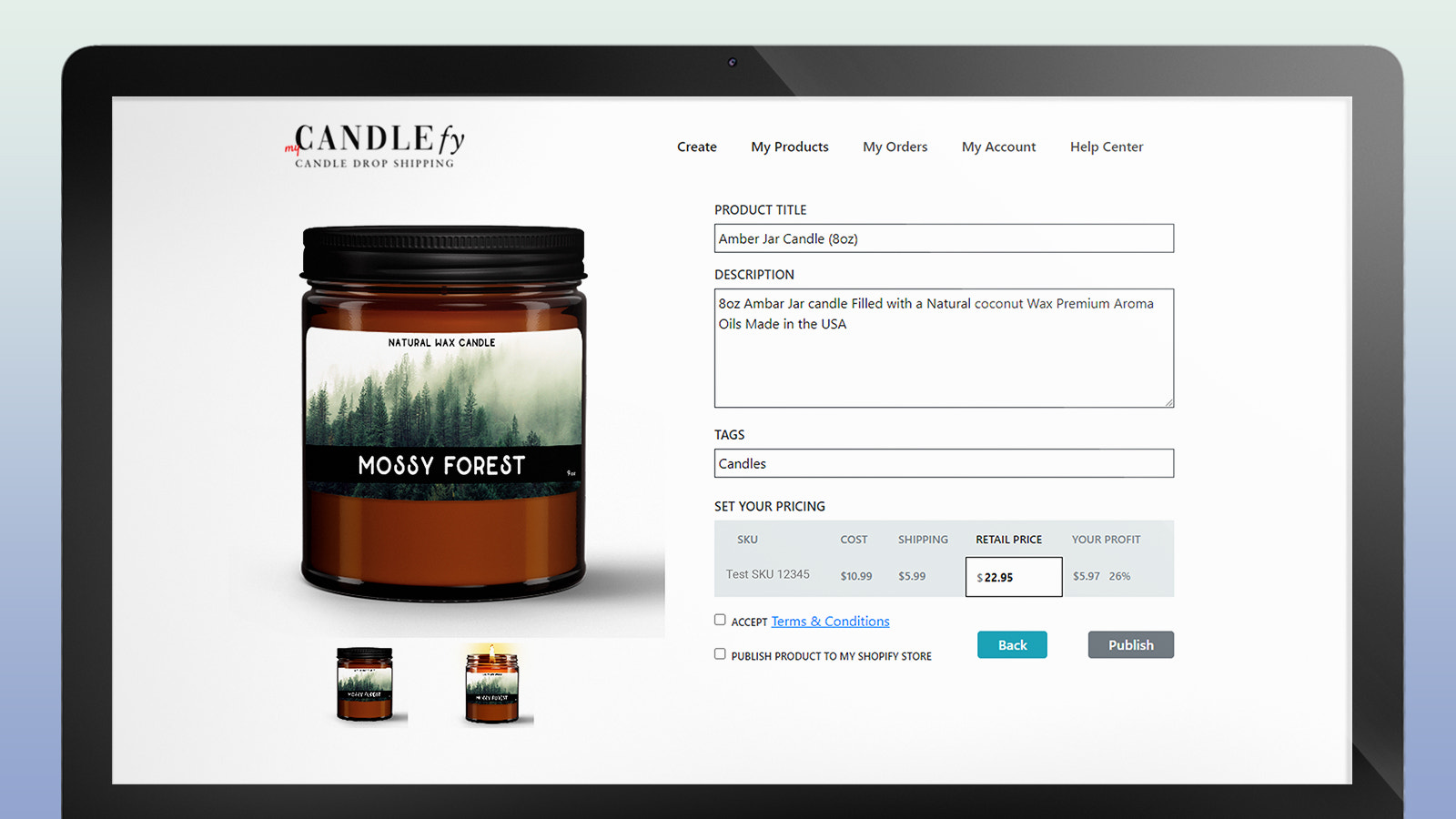 Drop Shipping Candles: Set any selling price you like.