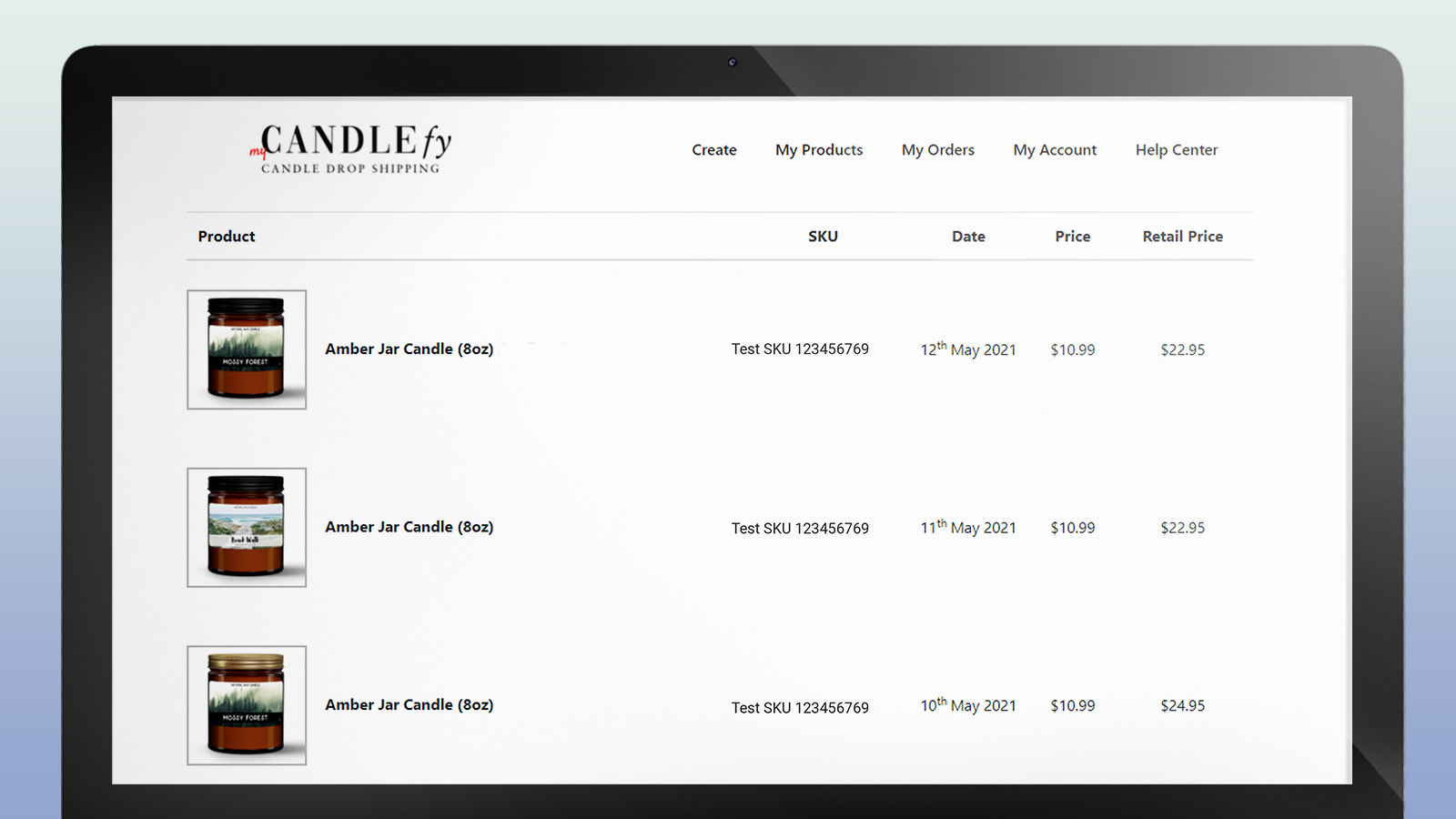 Drop Shipping Candles: Track your candle portfolio any time