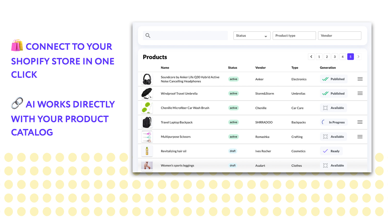 Connect with your catalog