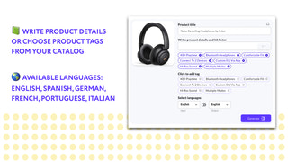 Write product details