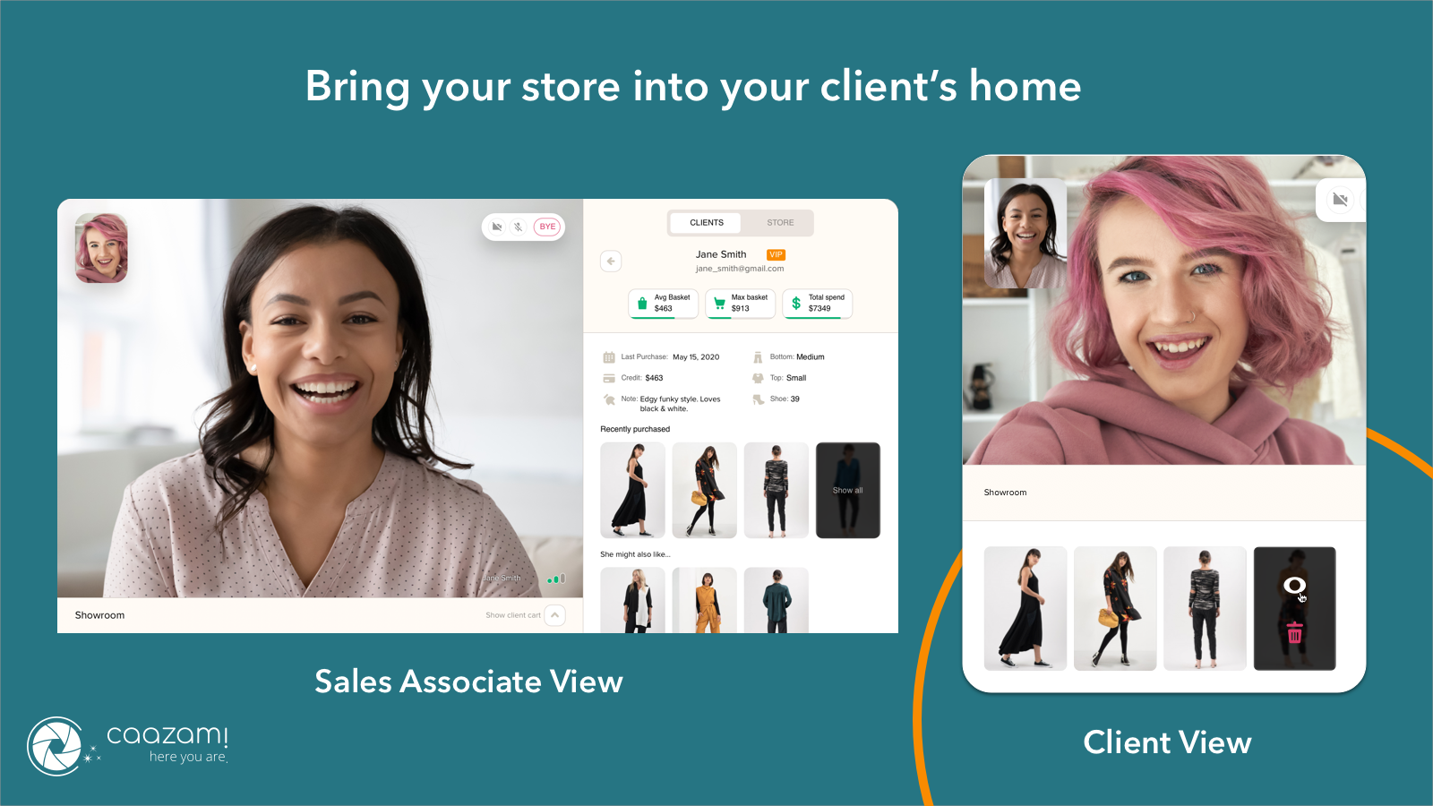 Caazam! - Bring Your Store into Your Client's Home