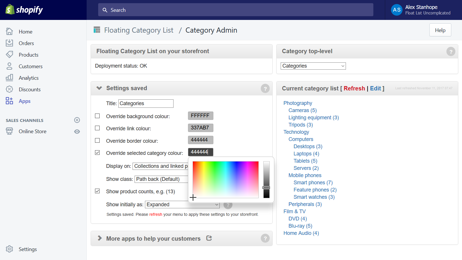 Tick-and-click admin interface is easy to use