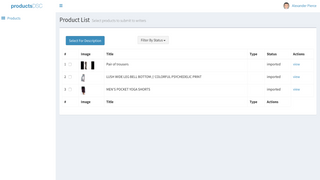 select products. Automatically pulled from your shop