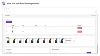 View and edit bundle components