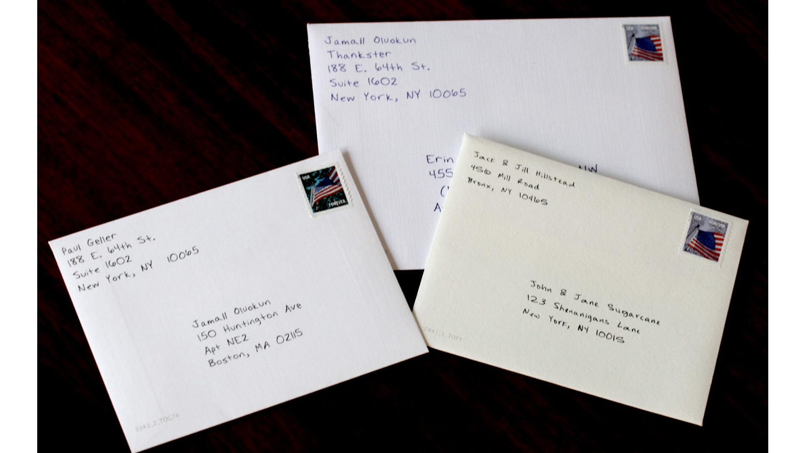 Envelopes get a first class stamp for greater authenticity