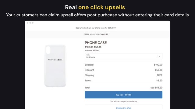 Honeycomb Upsell Funnels post purchase increase conversion sales