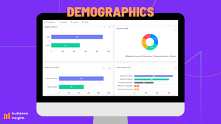 Get in-depth analytics about the demographics of your visitors