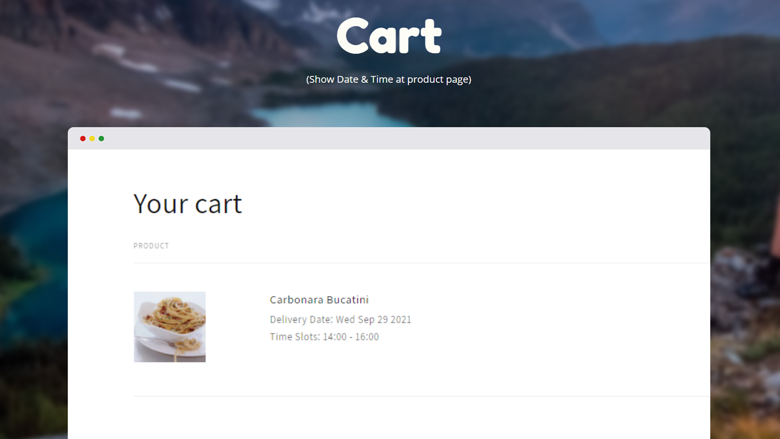 Delivery Date at Cart Page