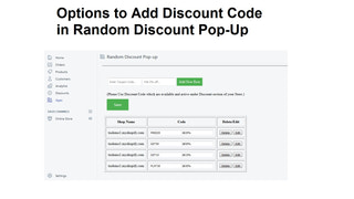 random discount popup backend demo 2