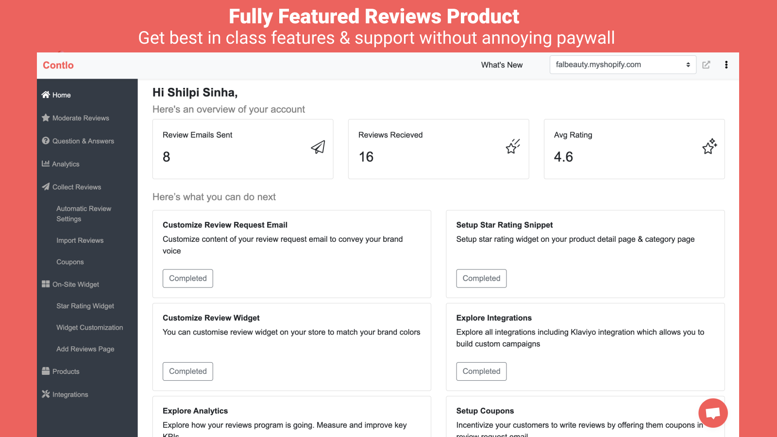 Best in class features with no annoying paywall - for free