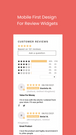 Mobile First Review Widgets