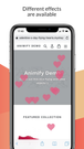 iOS mobile floating hearts effect for Shopify