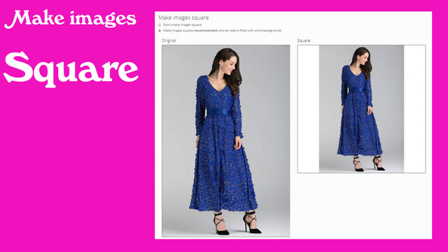 Make images square for the professional look