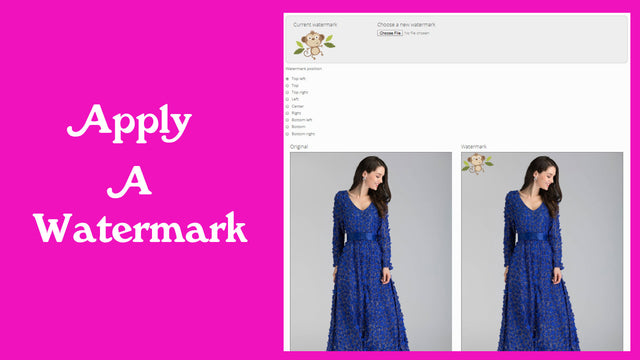 Add a watermark to prevent theft of images