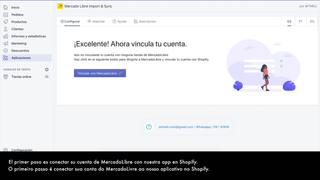 First Step. Link your MercadoLibre Account