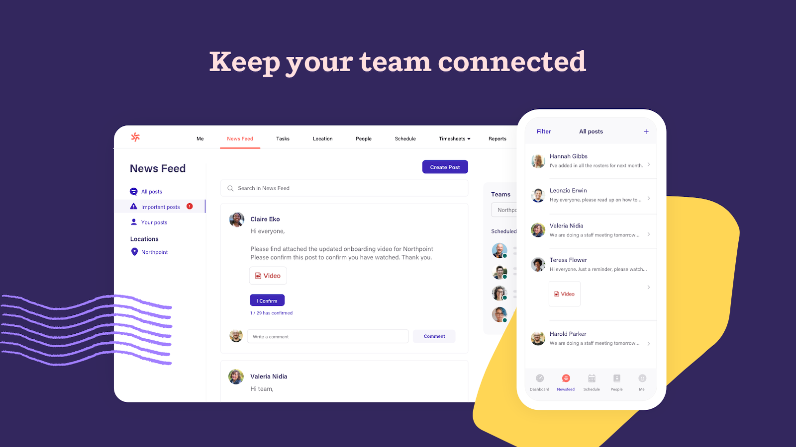 Stay connected with your team on all devices
