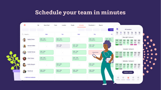 Easily schedule your team within minutes