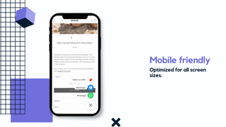 Mobile Floating Widget Buttonizer Shopify