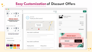 Easy Customization of Discount Offers
