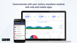 manage visitors with both web and mobile apps