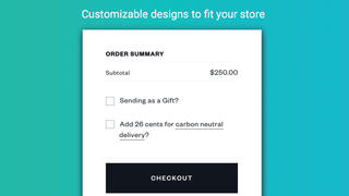 Customizable designs to fit your store